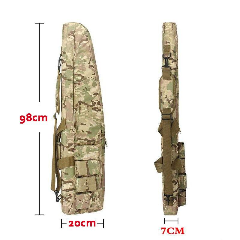 Sac de chasse en plein Air fusil tactique pistolet porter sacs à dos environ 98 cm Airsoft Air Gun Paintball fusil Protection sacs avec coussin