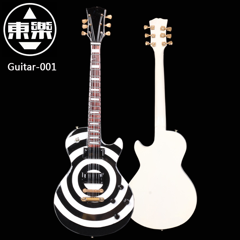 цены Wooden Handcrafted Miniature Zakk Wylde Bullseye LP Guitar Display Model guitar-001  with Case and Stand (Not Actual Guitar!)