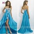 Alta baixa vestidos de baile querida vestidos 2016 azul rosa Vestido para meninas Vestido de Formatura SA256