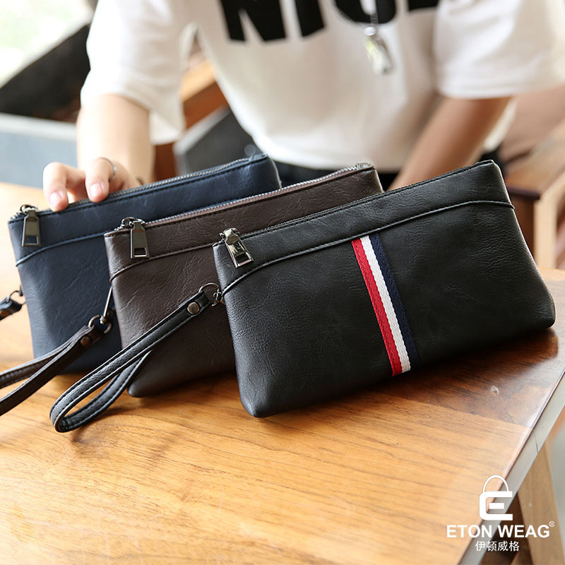ETONWEAG Brands Italian Leather Womens Wallets And Purses Brown Vintage Women Clutch Bags England Style Day Clutches Coin Purse