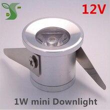 1 Вт мини-светодиодные лампы пятна света DC 12 В Каст lampje светодиодные светильники FOCO LED Tech свет шкафа с драйвер 10 шт./лот