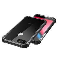 LUOOYD Zware Beschermin Case voor iPhone 7 8, transparant Hard PC en Soft TPU Bescherm de rand voor iPhone 7 Plus 8 Plus Case
