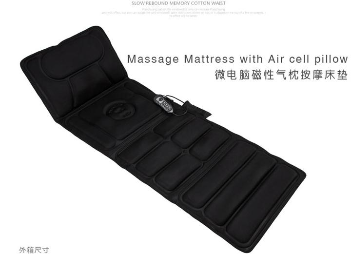Whole body massage mattress multifunctional electric vibrating massage health care equipment back cushion for leaning on
