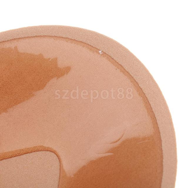 2 Pieces Backless Adhesive Sticky Strapless Silicone Pushup Bra,C Cup