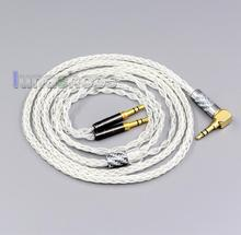 LN006430 99% Pure Silver 8 Core earphone Cable For Denon AH D600 D7100 Hifiman Sundara Ananda HE1000se HE6se he400i he400se Arya