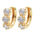 Yellow Gold Plated Clear Cubic Zircon CZ Hoop Earrings For Women Star Jewelry For Women Children Girls Baby Kids A1283