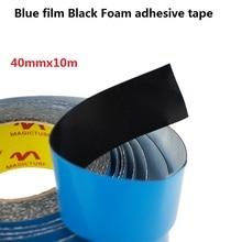 40mm * 10m 강한 접착제 검정 pe 거품 양면 테이프 자동차 스타일링 전화 수리 가스 켓 화면 pcb에 대 한 파란색 보호 필름