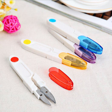 1Pc Snips DIY Scissors With Cover For Thrum Thread Fish Line Cutter Tools Office Paper Cutting Supplies Desk Accessories