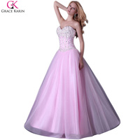 Cheap Price Grace Karin Sexy Stock Strapless Corset Style Party Gown Prom Ball Evening Dress 8