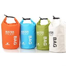 Newest Style Waterproof Bag Storage Dry Bag For Outdoor Canoe Kayak Rafting Camping Climbing Hike 4 Colors Portable 2L W2