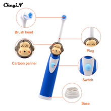 CkeyiN Professional Children Cartoon Pattern Electric Toothbrush Washable Cute Tooth Brush Kids Massage Teeth Care Cleanser S36