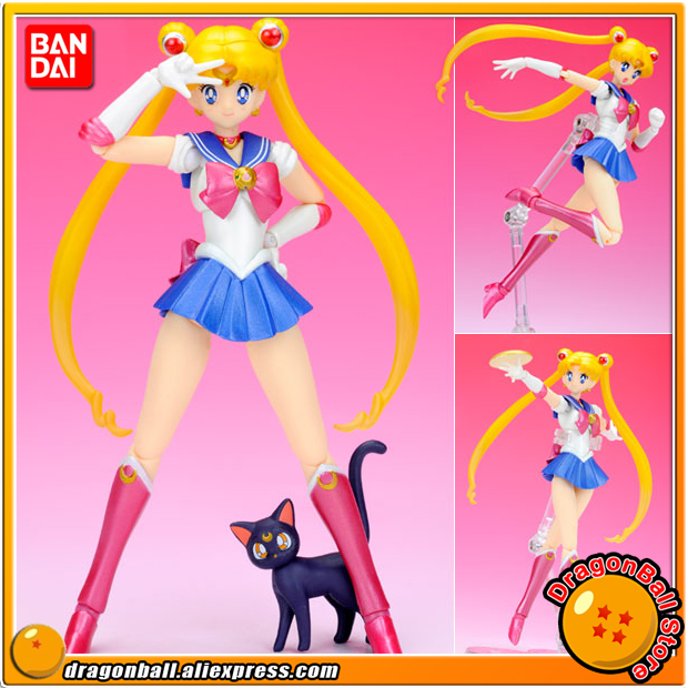 Japanese Anime Pretty Guardian Sailor Moon Original BANDAI Tamashii Nations SHF / S.H.Figuarts Action Figure - Sailor MoonJapanese Anime Pretty Guardian Sailor Moon Original BANDAI Tamashii Nations SHF / S.H.Figuarts Action Figure - Sailor Moon