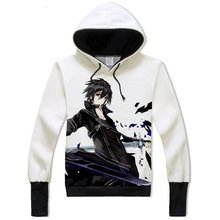 Sword Art Online Kirito Hoodie Anime Sweatshirt for Teens