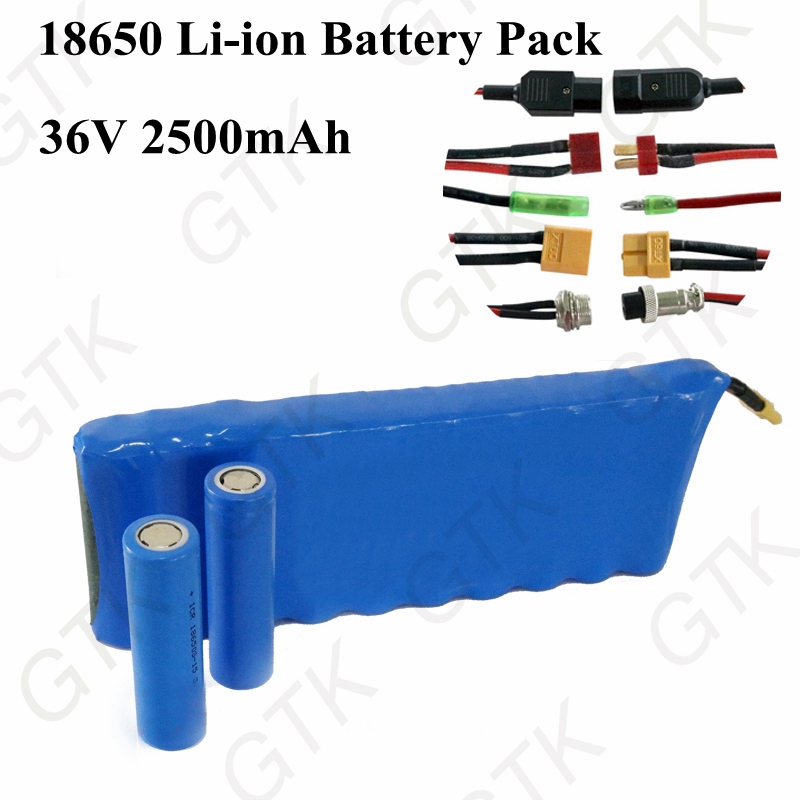36V 2.5Ah 10S1P 18650 li-ion rechargeable battery pack 36v 2500mah lithium battery for electric skateboard 36v scooter battery