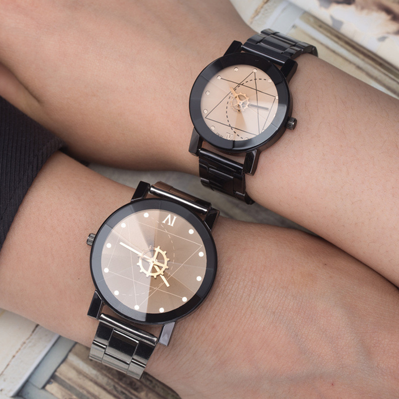 BGG Fashion Creative Women Watch 2018 Compass needle Full Stainless Steel Quartz Wristwatch Ladies Dress Lover couple clock hour