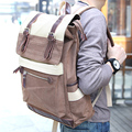Favocent Canvas Men Patchwork Internal Frame Hasp  Canvas Yes Arcuate Shoulder Strap Solid Bag Preppy Style Soft Ha