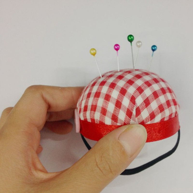 Ball Shape Needle Pin Cushion With Elastic Wrist Belt DIY Handcraft Tool for cross stitch sewing home