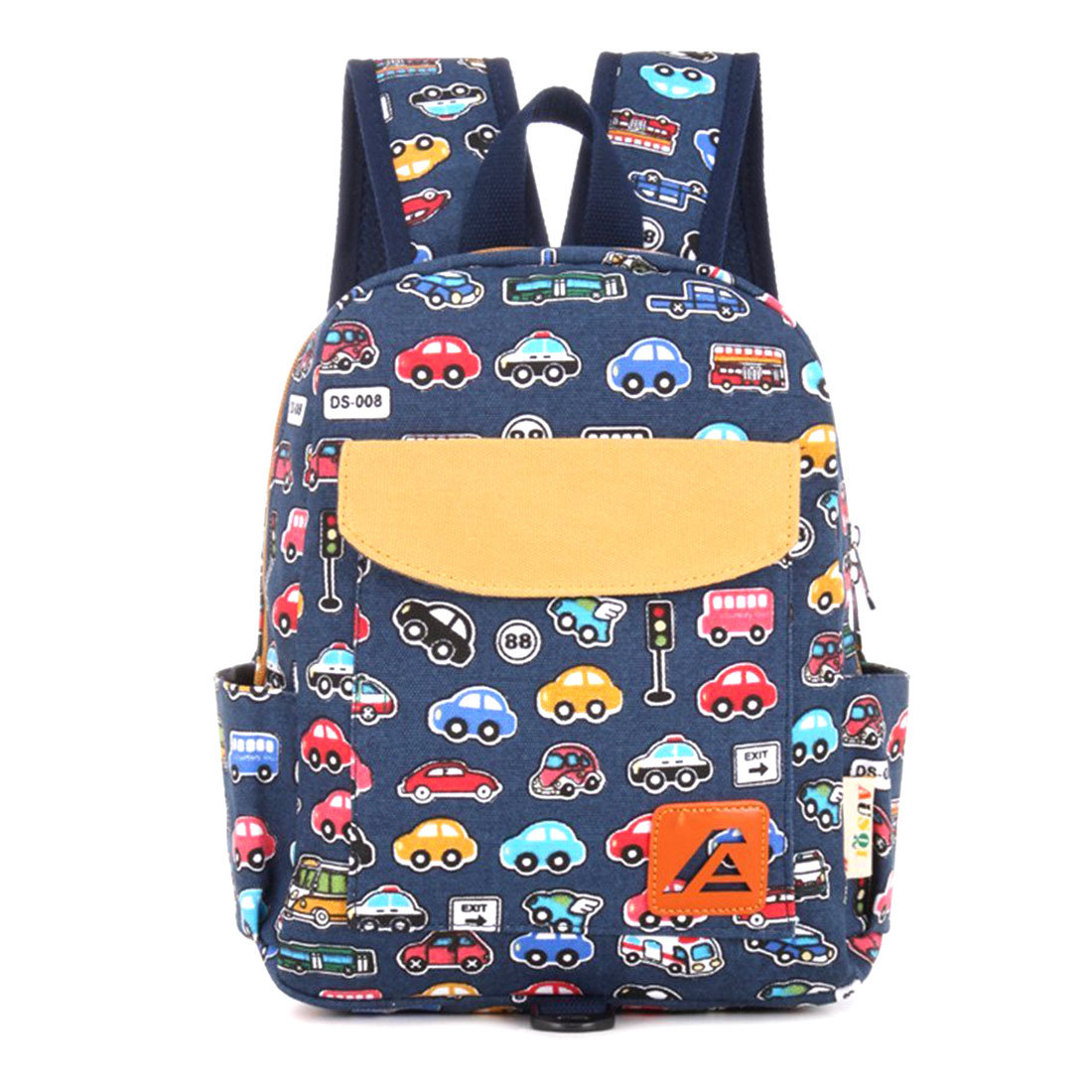 Children School Bag Printing Canvas Backpack Rucksack Kindergarten School Student Bag For Boys Girls Kids Toddlers Blue Bus M japan anime fairy tail happy natsu cosplay backpack student printing canvas shoulder bag boys girls teenagers school bag