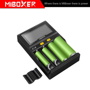 Image 2 - 100% oriMiboxer C4 VC4 LCD Battery Charger for Li ion/IMR/INR/ICR/LiFePO4 18650 14500 26650 AAA 4.2 3.7 1.2V 1.5V Batteries
