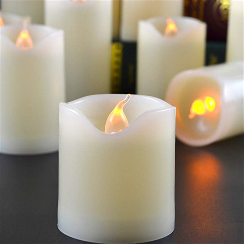3pcs set Flameless LED Candle Battery Operated Night Light Candle for Wedding Birthday Party Christmas Home Decor in Candles from Home Garden