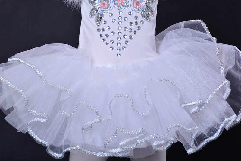 Профессиональное балетное танцевальное платье для девочек костюм белого лебедя озеро детское платье балерины балетное платье детская балетная пачка