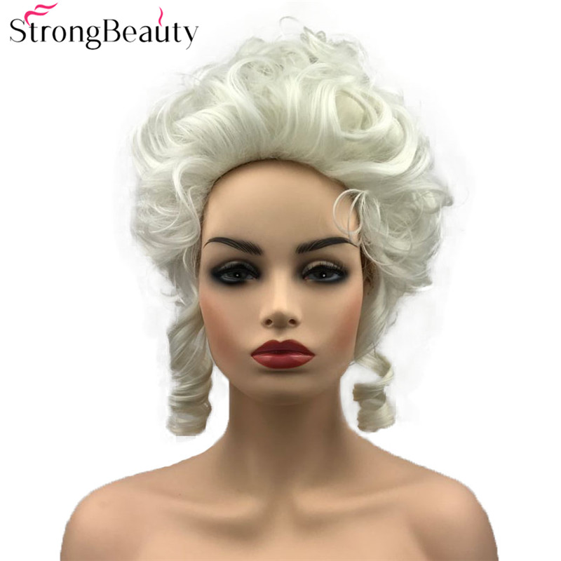 StrongBeauty Synthetic Curly Hair Wig Marie Antoinette Wig Women Cosplay Wigs