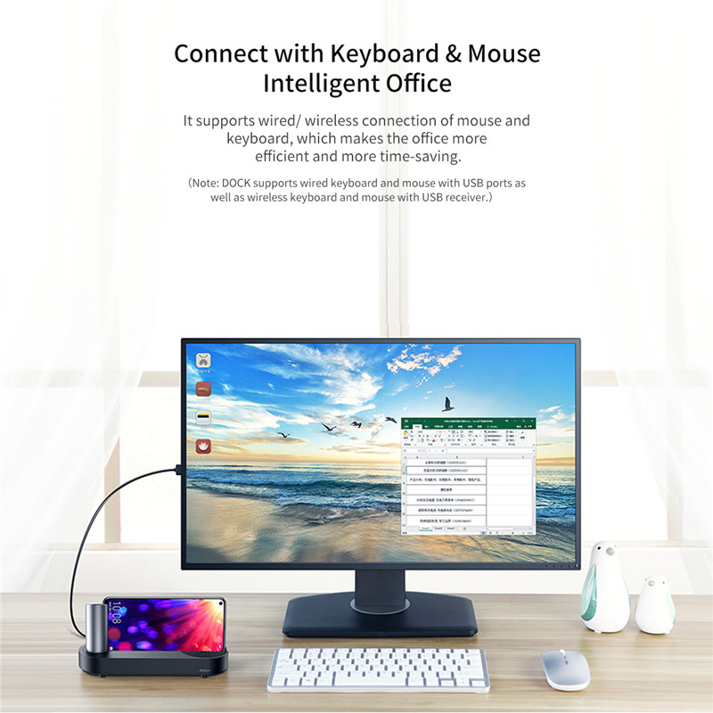Image 5 - ROCK HDMI Adapter Cloud on Type c Docking Station Type C to 3.0 HUB for Huawei P30 Mate P20 Pro 5in1 USB C HUB phone to TV-in USB Hubs from Computer & Office