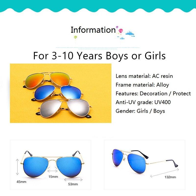 Clásico piloto Gafas de sol para niños Marco de metal tan fresco - Accesorios para la ropa - foto 2