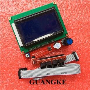 12864 LCD Rampes Smart Parts RAMPES 1.4 Contrôleur Panneau De Contrôle LCD 12864 Affichage Moniteur Carte Mère Écran Bleu Module