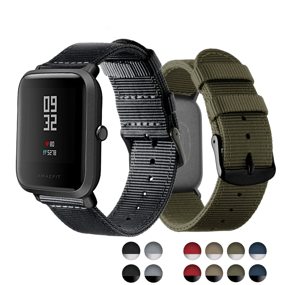 Eastar Replacement Watch Strap for Xiaomi huami Amazfit Smart Watch Youth Edition Bip BIT PACE Lite band strap fitness bracelet cool magic sticker canvas strap wrist band for huami amazfit bip youth watch fitness tracker fitness braceletdrop shopping