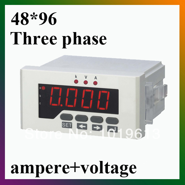 Three phase combination meter voltmeter amperemeter three phase combination meter voltmeter amperemeter