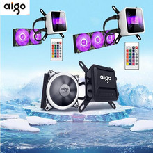 Aigo T240 pc case water cooling RGB  computer fan CPU integrated water cooling Cooler For LGA 775/115x/AM2/AM3/AM4 Free shipping