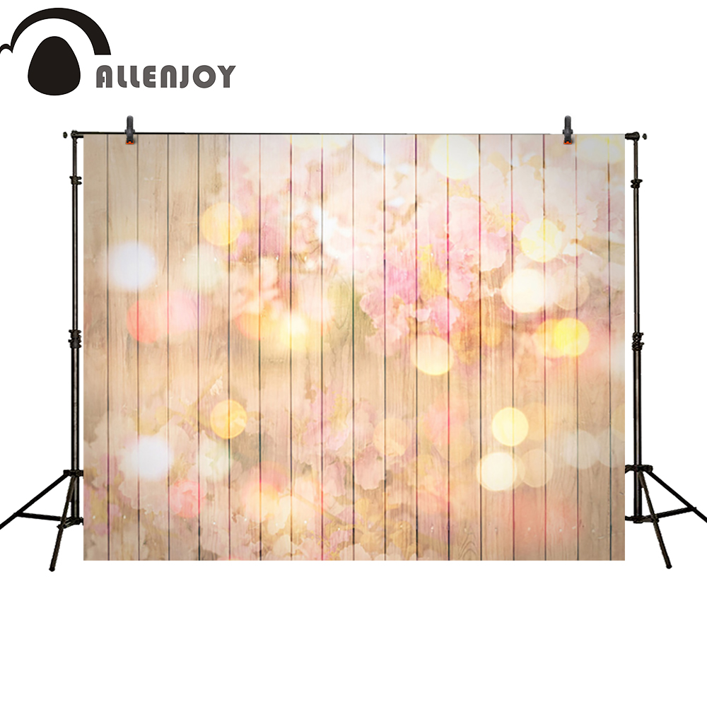 Allenjoy photography backdrop flower wood wall shiny dots wedding newborn photo studio photocall background original allenjoy diy wedding photography background romantic love wood board custom name date phrase backdrop photocall