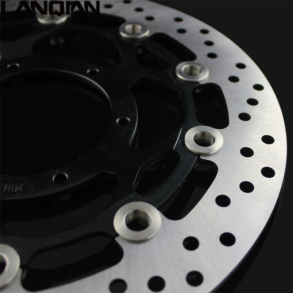 2PCS Motorcycle Front Floating Brake Disc Rotor For YAMAHA XJR400 1993-2005 YZF600R 1994-2005 FZR400 1988-1995 XJR 400 YZF 600R motorcycle part front rear brake disc rotor for yamaha yzf r6 2003 2004 2005 yzfr6 03 04 05 black color