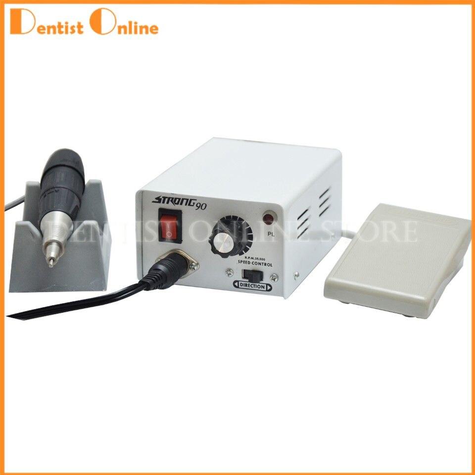 Strong 90+102 Micromotor Hand Polishing Polisher Dental Lab equipment Jewelry Gems Micromotor 220V 35000 rpm jewelry polishing machine polisher