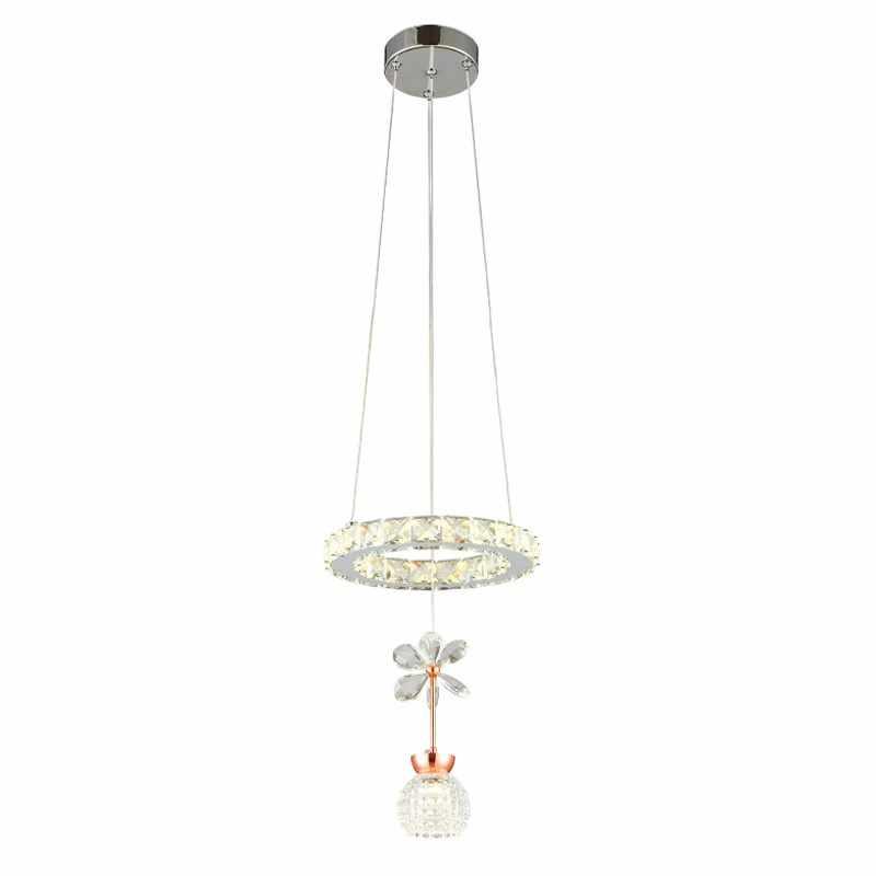 Маленькая Смарт Люстра для кухни столовой спальни бар блеск салон украшения для домашнего интерьера K9 Мини хрустальная люстра лампа