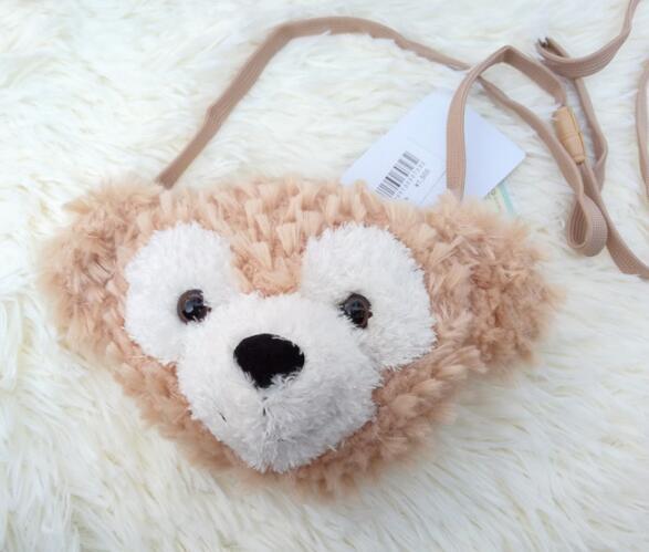 7f3ec6dc17a6 US $10.93 5% OFF|candice guo! super cute plush toy cartoon couple duffy  bear shelliemay bear crossbody bag coin purse lover girl birthday gift  1p-in ...