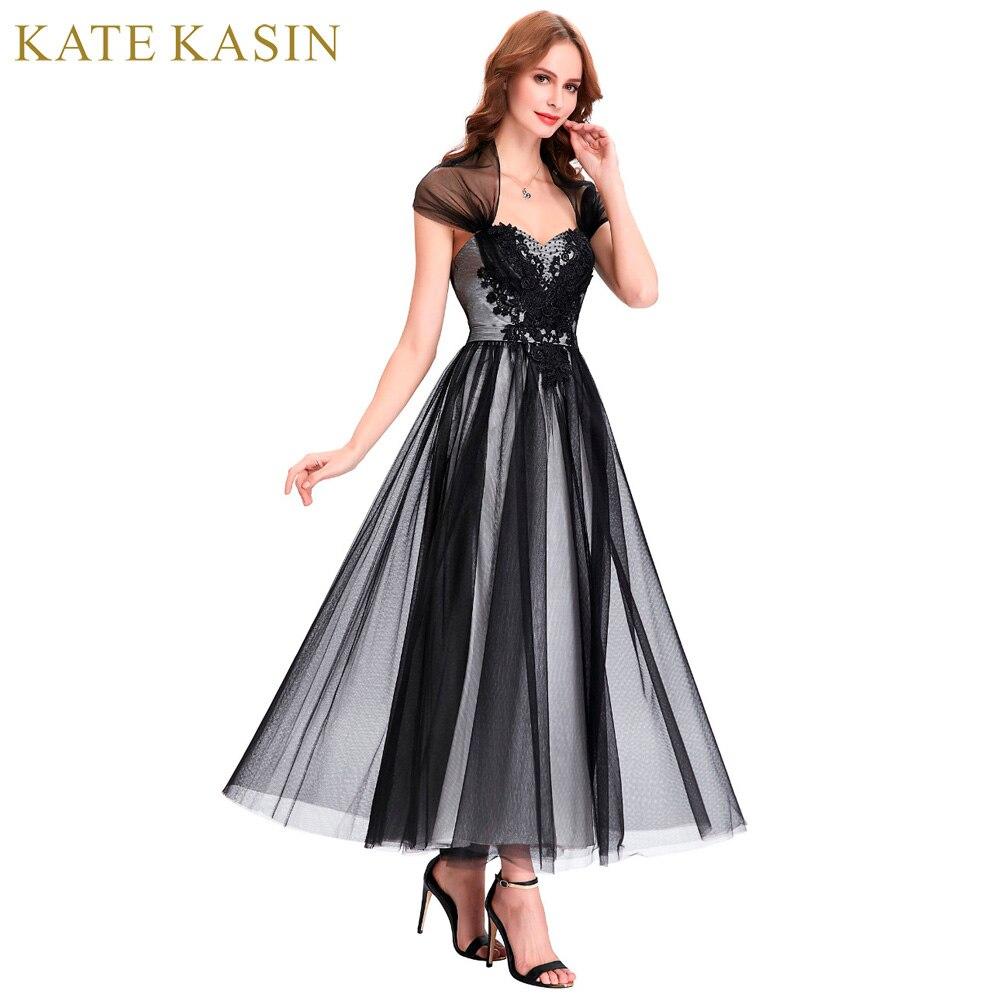 Kate Kasin Bodenlangen Abendkleider mit Cape Lange tüll Mutter der ...