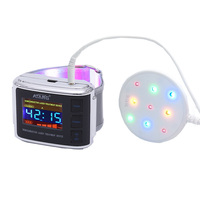 Watch Laser Therapeutic Acupuncture 4 Color Red Laser Combine Blue Light&Yellow Light & Green Light Laser Watch Therapy Device