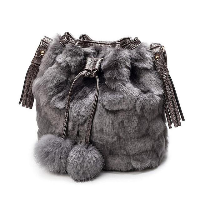 Bolsas das Mulheres de luxo Designer de Menina Bonito do Inverno de Pelúcia Bolsa de Ombro Das Senhoras Da Forma Saco Do Mensageiro Saco de Embreagem de Alta Qualidade
