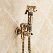 Wholesale and Retail Antique Brass Finish Bathroom Bidet Faucet Solid Brass