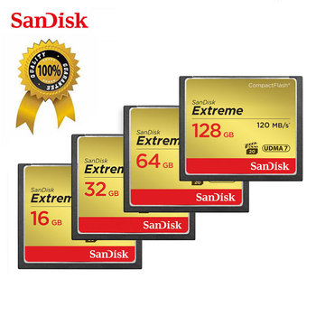 Sandisk Memory Card Extreme CompactFlash 32GB 64GB 128GB CF Card VPG-20 120MB/s 4K and Full HD Video For Canon D300 7D 5DSR Card
