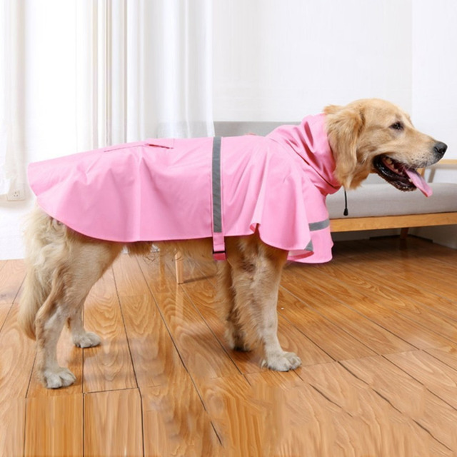 Large Dog Raincoat Summer Pet Coats Jacket Dog Clothes Outdoor Rain Coat Waterproof Pet Clothing Dog Poncho Rain Outfit 8AY30
