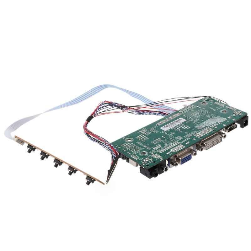 """Плата контроллера ЖК-дисплей VGA, HDMI, DVI аудио ПК Драйвер модуля DIY Kit 15,6 """"Дисплей B156XW02 1366X768 1ch 6/8-bit 40 Pin Панель"""