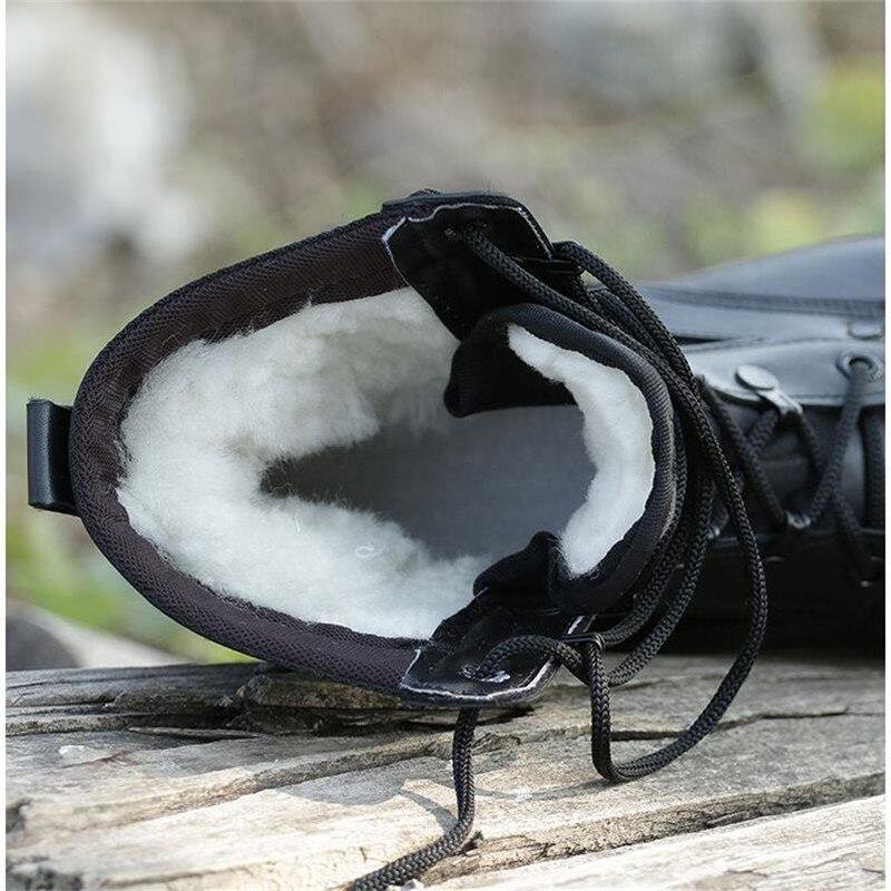 Motocicleta Biqueira Homens Bota Inverno Botas Do Dos De Aço 2019 Sapatos Neve Combate Trabalho Moda Quente Lã Couro Preto Genuíno Natural Exército 7atZ8q4nw