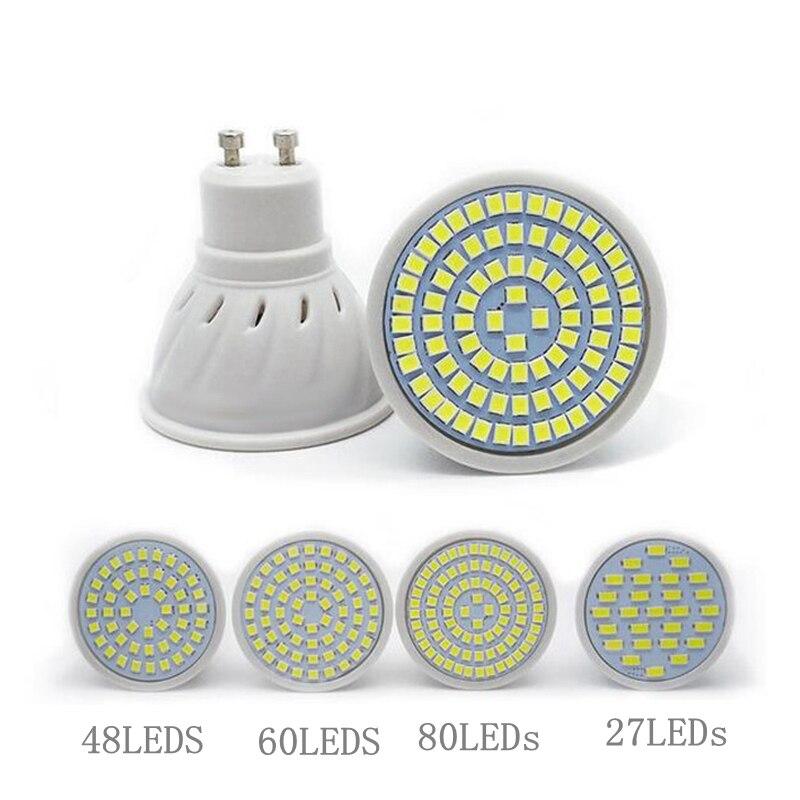 Led Bulbs & Tubes Light Bulbs Ac 220-240v Gu10 Base Led Bulb 2835 Spotlight Bulb 48/60/80leds Chandelier Candle Led Spot Light For Home Decoration