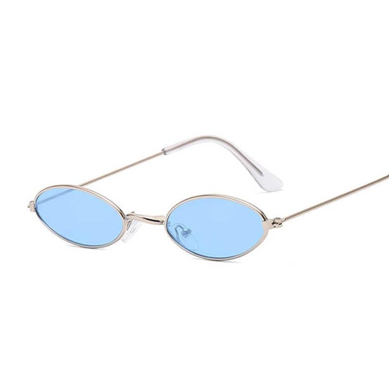 إطار صغير أسود ظلال النظارات الشمسية المستديرة النساء البيضاوي العلامة التجارية مصمم Vintage نظارات شمسية الموضة الوردي الإناث Oculos دي سول