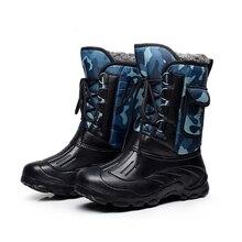 Новинка; мужская хлопковая обувь; уличная Лыжная обувь; водонепроницаемые теплые зимние ботинки; обувь для рыбалки, альпинизма, прогулок; Calzado de hombre