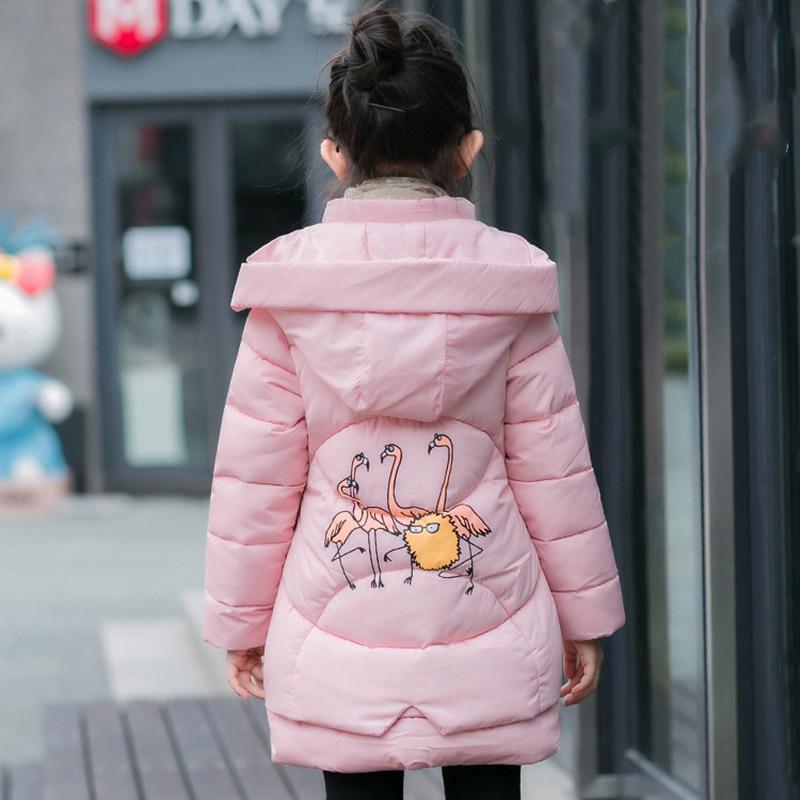 3-9 T çocuk kız kış ceket kalınlaşmak sıcak kapşonlu çocuk kabanlar coat pamuk yastıklı kız aşağı ceketler kızlar aşağı & parkas