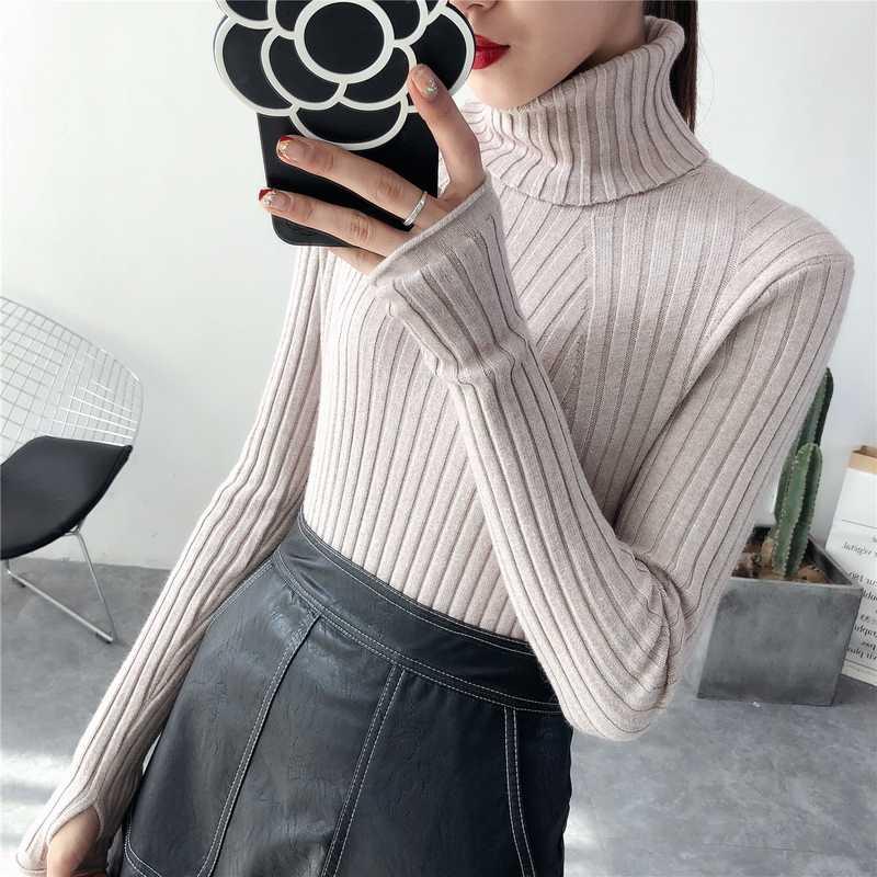 2018 Dikke Warme Vrouwen Coltrui 2018 Winter Vrouwen Truien En Pullovers Knit Lange Mouwen Kasjmier Trui Vrouwelijke Jumper Tops